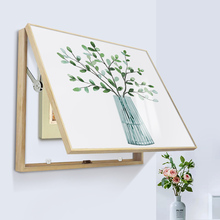 Decorative Painting of Electric Meter Box No-punching Solid Wood Frame Simple Modern Electric Meter Box Opening and General Opening Distribution Box Painting