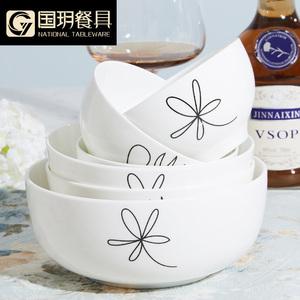 唐山 骨瓷器<span class=H>餐具</span>物语碗大小汤勺汤碗微波米饭陶瓷碗创意自选套装