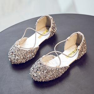 儿童公主鞋2019夏季新款软底女童皮鞋单鞋小女孩凉鞋水晶鞋女<span class=H>童鞋</span>