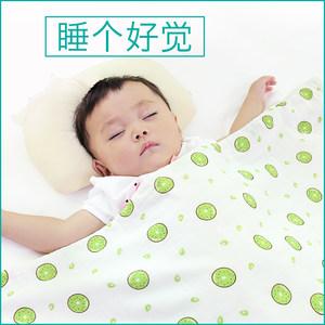 婴儿毯子新生儿纯棉毛毯薄款婴幼儿童空调被纱布宝宝盖毯四季浴巾