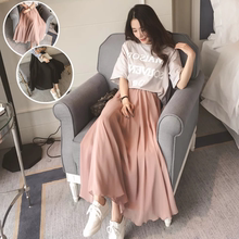 Summer Chiffon and Ankle Skirt Half-length Skirt