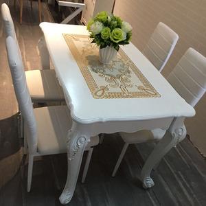 桌子小户型欧式<span class=H>餐桌</span>实木4人6现代简欧<span class=H>餐桌</span>椅组合家用长方形吃饭桌