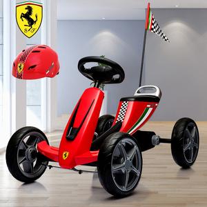 正品法拉利儿童卡丁车四轮<span class=H>自行车</span>小孩单车<span class=H>玩具</span>汽车三轮宝宝脚踏车