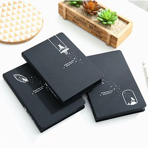 韩国创意简约纪念册手账本空白黑<span class=H>卡纸</span>内页日记相册DIY黑色笔记本