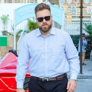 显瘦男士长袖单衬衣加肥加大特大号码肥佬胖子宽松工装职业装<span class=H>衬衫</span>