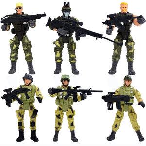 特種部隊<span class=H>兵人</span>套裝<span class=H>模型</span> 3.75寸關節可動人偶軍事打仗士兵軍人<span class=H>玩具</span>