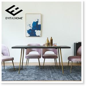 美式复古实木北欧风长方形一桌六椅<span class=H>餐桌</span>椅组合后现代轻奢简约饭桌