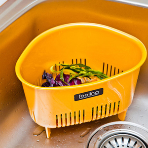 日本进口水槽塑料沥水篮收纳篮厨房小<span class=H>用品</span>厨具置物架收纳架沥水架