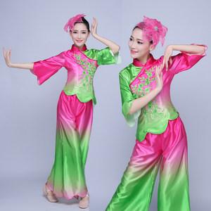 秧歌服2019新款中老年古典<span class=H>舞蹈服</span>装扇子舞广场舞演出服成人女套装