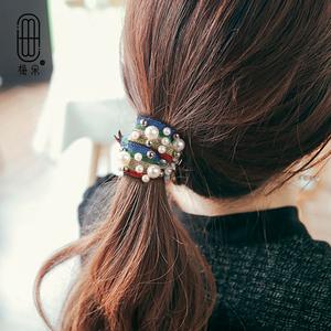 韩国网红ins森女珍珠发圈