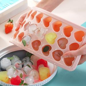 送取冰夹!带盖硅胶模具制冰块神器