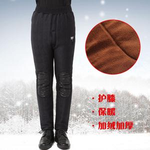 爸爸装加厚保暖裤中年男士加绒厚<span class=H>棉裤</span>中老年<span class=H>男装</span>内穿护膝厚大码裤