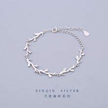 S925 Silver Moonlight Forest Bracelet Female Simple Tree Branches Mori Design Personality Gift for Students