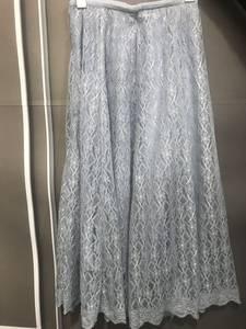 2019春夏装新款百搭显瘦蕾丝松紧高腰<span class=H>拉链</span>半身裙中<span class=H>长裙</span>A字裙
