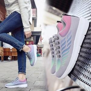 秋款<span class=H>运动鞋</span>女韩版百搭内增高黑色新款休闲夏2018网面透气小白鞋子