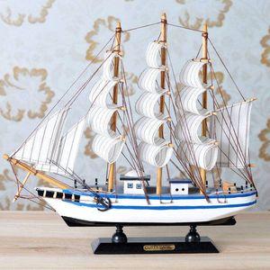 拼装模型电机旋转帆船摆件军舰制作纯手工<span class=H>木船</span>木材料一帆风顺一米