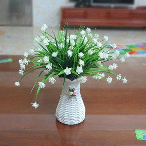 <span class=H>仿真花</span>束花瓶插花套装客厅摆设塑料假花绿植装饰家居室内盆栽摆件