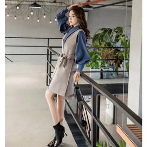 秋冬季女装2018新款韩版时尚洋气女神范裙子两件套御姐气质<span class=H>套装裙</span>
