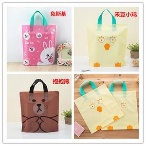 童装加厚服装袋塑料袋礼品袋手提<span class=H>袋子</span>衣服袋批发一包48个包邮