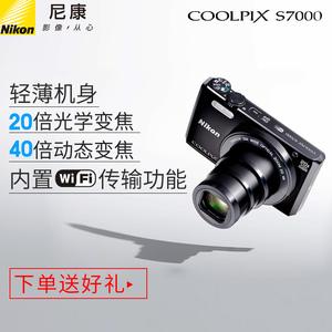 Nikon/尼康 COOLPIX S7000长焦<span class=H>数码</span>照<span class=H>相机</span>迷你高清旅游家用卡片机