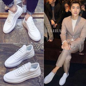 <span class=H>男鞋</span>夏季潮鞋小白鞋男韩版潮流2019新款港风白色板鞋运动休闲鞋子