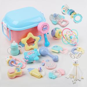新生儿摇铃玩具婴儿礼盒0-2周宝宝礼物婴儿衣服用品大全套装母婴