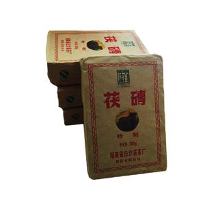 正宗白沙溪<span class=H>黑茶</span>湖南安化金花<span class=H>茯砖</span>茶300g茶砖<span class=H>茶叶</span>金花茯茶牦牛安华