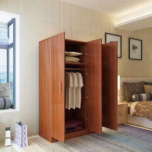 卧室两门<span class=H>衣柜</span>木质简易组装柜子多功能简约现代经济型家用板式衣橱