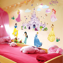 Cartoon Princess Girls'Room Wall Painting Bedroom Bedside Wall Decoration Kindergarten Early Education Layout Sticker