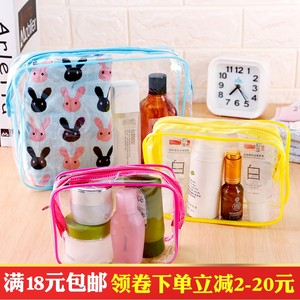 便携式透明防水洗漱包旅行化妆品收纳袋多功能加厚塑料杂物收纳袋