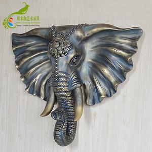 大象头壁挂大象挂件动物头客厅创意墙饰欧式家居墙面装饰<span class=H>壁饰</span><span class=H>挂饰</span>