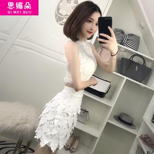 夜店女装2017夏季夜场性感两件套装裙修身显瘦短裙气质名媛连衣裙