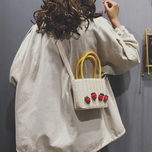 Straw-woven lady bag new style popular summer 2019 Xiaoqing fresh one-shoulder handbag knitted oblique Bag