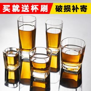 优质<span class=H>玻璃</span>杯透明耐热茶杯水杯<span class=H>酒杯</span>子加厚<span class=H>八角</span>杯牛奶果汁杯酒吧KTV