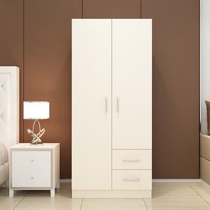 两门<span class=H>衣柜</span>简约现代经济型组装实木板式租房宿舍简易单人双人小柜子