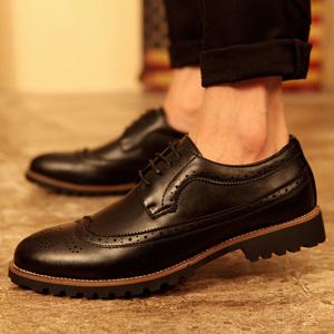 韩版英伦夏季雕花发型师透气内增高婚<span class=H>鞋子</span>潮流<span class=H>男鞋</span><span class=H>布洛克</span>尖头皮鞋