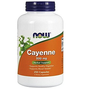 NOW Cayenne 500 mg,250 Veg Capsules