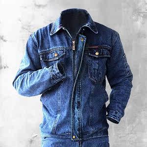 车间<span class=H>工作服</span>套装男焊工劳保纯棉服加厚耐烫工服牛仔工人工装厂服