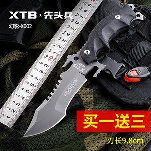 XTB户外求生刀军刀防身户外高硬度特战小直<span class=H>刀具</span>野外战术刀狩猎刀
