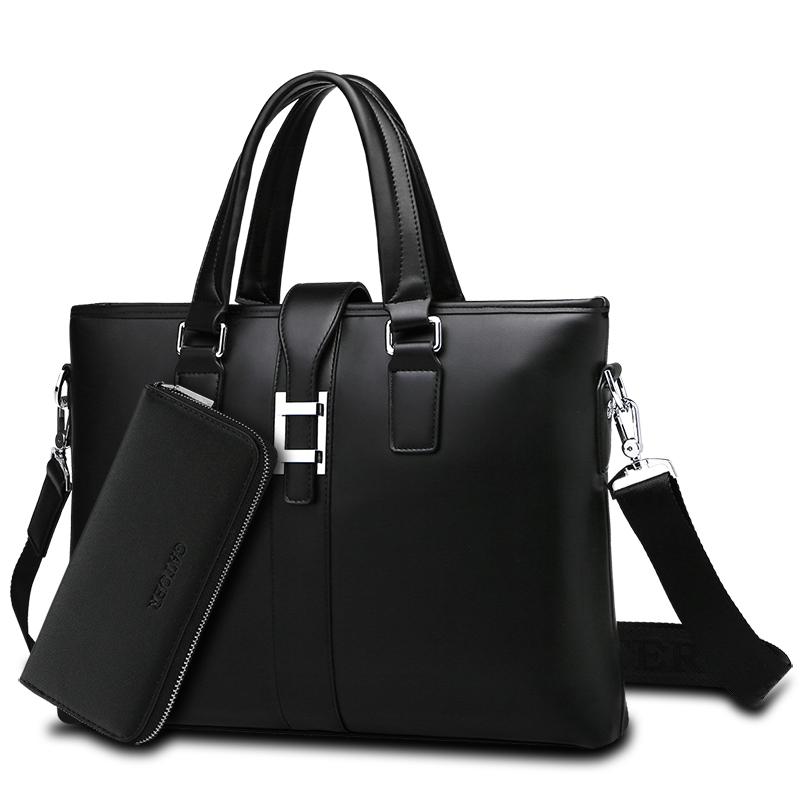 Yang Gatoer Pria Wraps Vogue Tas Tangan Bisnis Pembungkus Rekreasi Daftar Bahu Versi Horisontal Laptop Tas Briefcase dompet Miring Di Bungkus-Internasional
