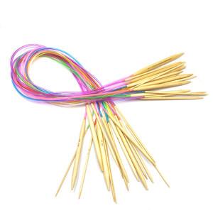 手工毛线编织工具80cm长循环针织毛衣<span class=H>环形针</span><span class=H>竹</span>木针毛线棒针长环针