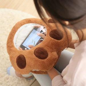 龙猫暖手捂抱枕毛绒玩具可插手玩手机暖手宝放<span class=H>热水袋</span>女生礼物可视