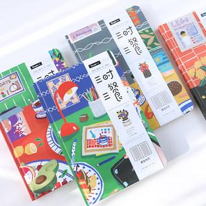 韩国创意小清新简约<span class=H>手账本</span>笔记本子可爱加厚学生用硬面抄记事本A5