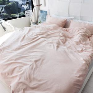 60支贡缎纯棉磨毛<span class=H>四件套</span>粉 灰 纯色全棉床单被套 秋冬季保暖床品