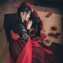 Female Chinese Style Student's Super Immortal Cherry Blossom Ancient Dress Fairy Fresh and Elegant Improvement Daily Dress Summer
