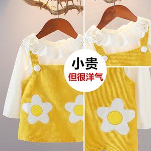 女宝宝春装2019新款女童套装裙一岁女孩1-3岁2洋气时髦两件套童装