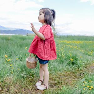 蔡爸爸 第627与607个童话 韩版女童娃娃衫 牛仔短裤套装 洋气套装