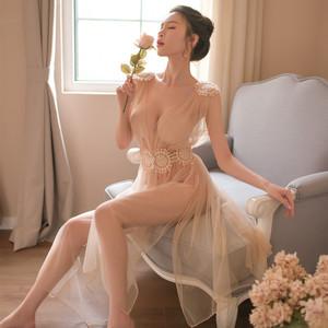 网纱情趣内衣激情套装sm用品透视明装夜店制服三点式露乳性感睡衣