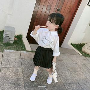 童装女童春装2019新款洋气<span class=H>衬衫</span>儿童春秋长袖衬衣宝宝韩版打底上衣