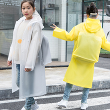Children's raincoat, long full-length raincoat, boys and girls, children, children and pupils with school bags, raincoat tide